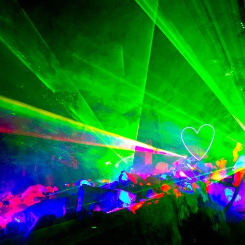 Lasershow Felsenmeer in Flammen