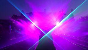 Lasershow für Bruchweiher Biblis