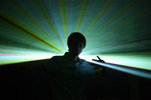 Lasershowkünstler André Daubmann