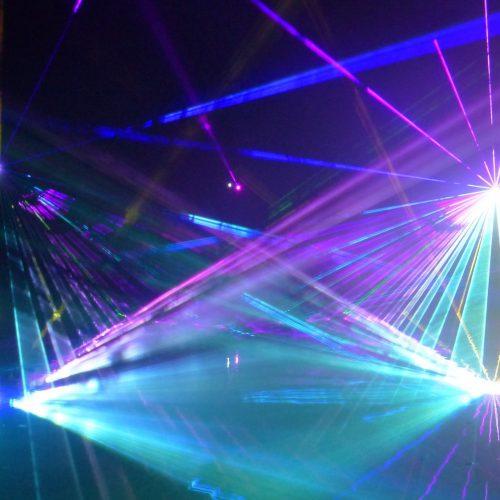 Lasershow für Volksbank Rastede