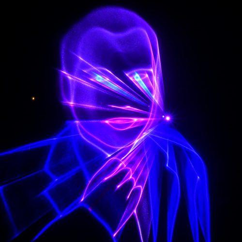 Lasershow Grafik auf Wasserleinwand